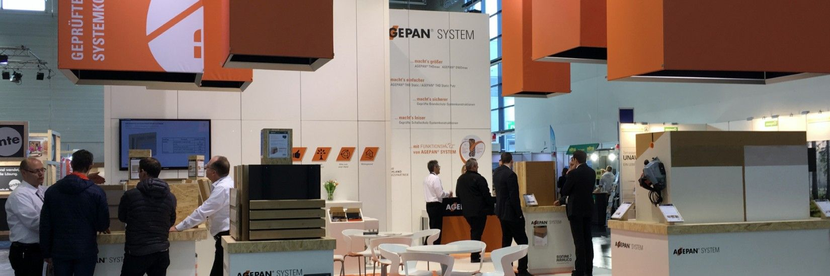 Sonae Arauco represented with AGEPAN® SYSTEM at the Dach + Holz International 2018