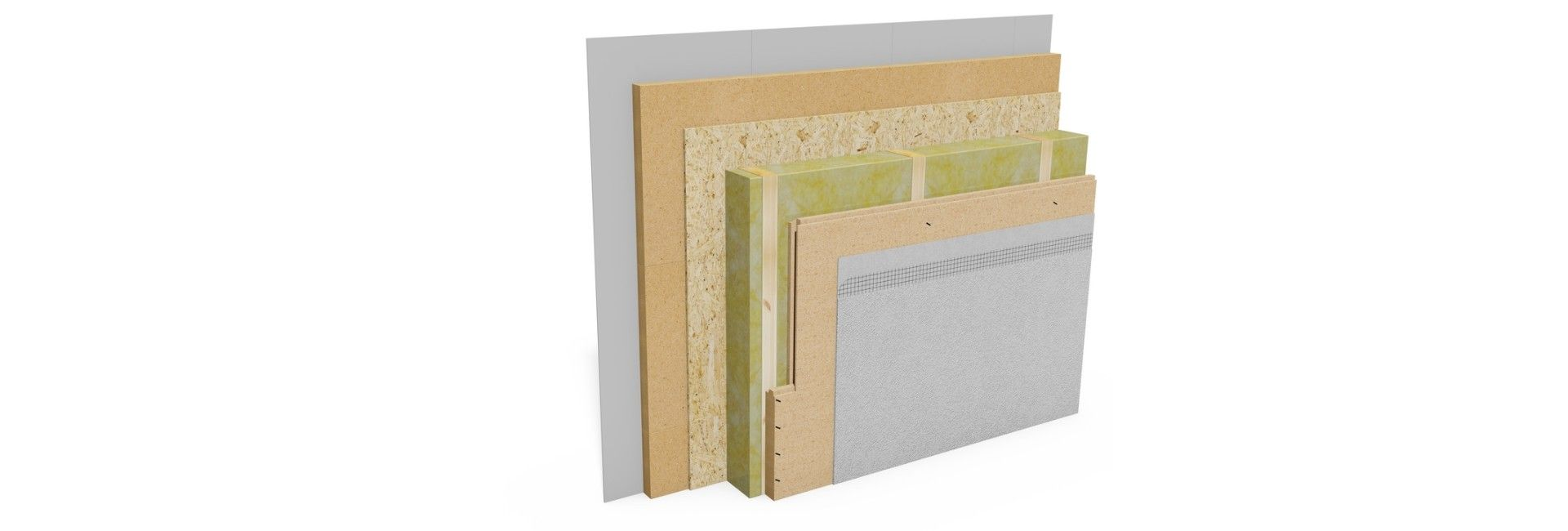 Sound insulation construction external wall 50 dB