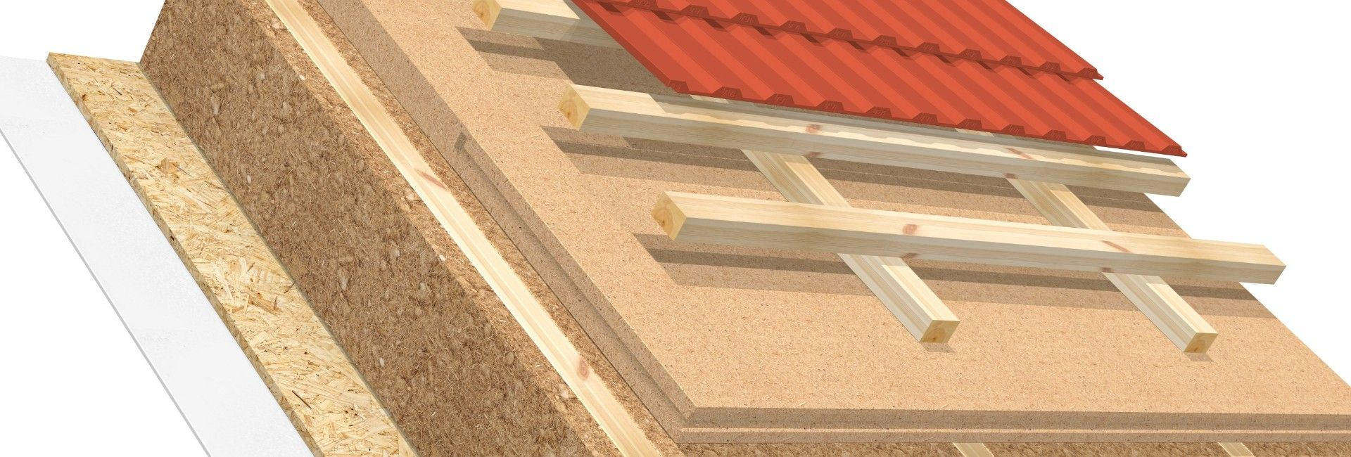 Full rafter insulation AGEPAN® THD T+G
