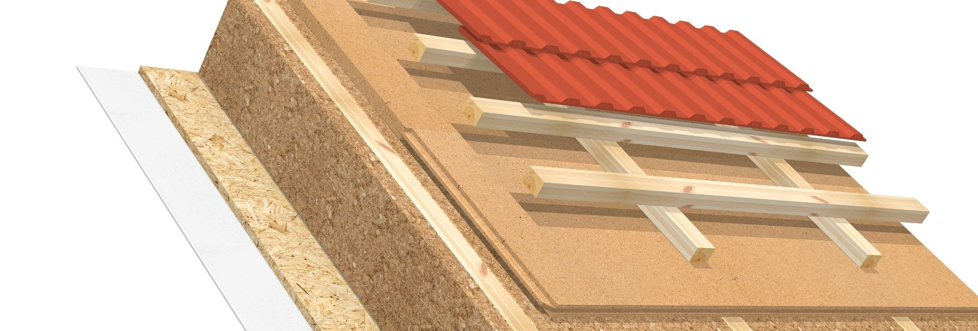 Full rafter insulation AGEPAN® UDP T+G